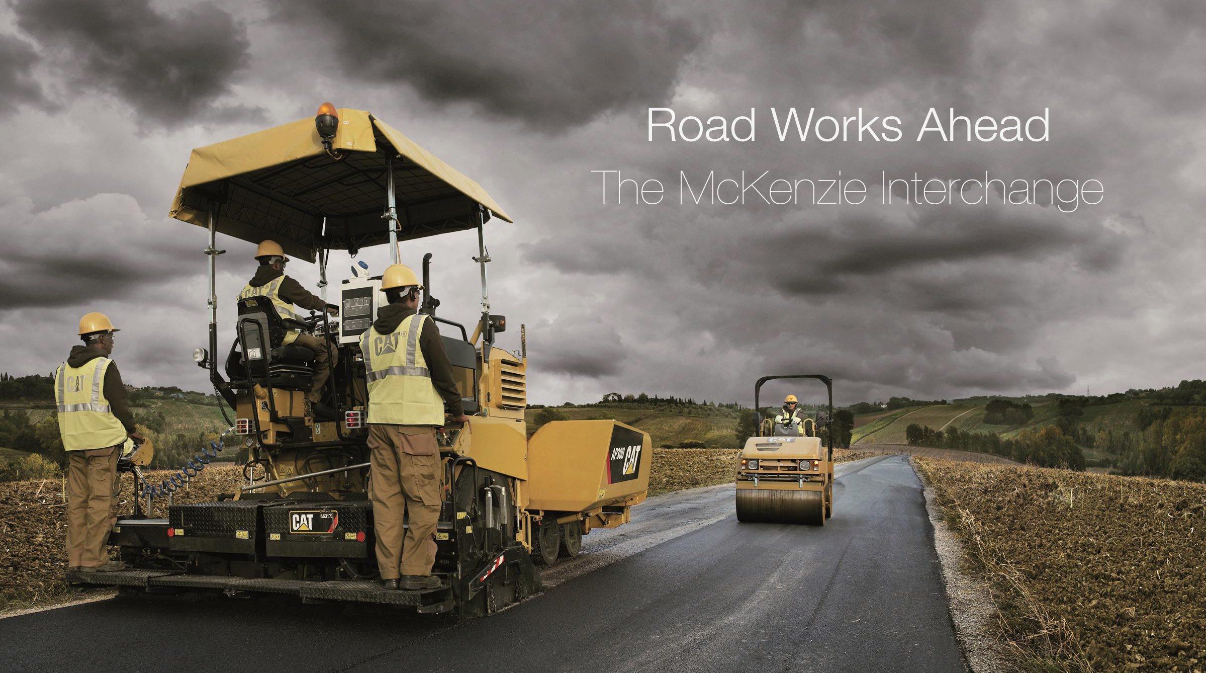 Road Works and Car Damage Mackenzie Victoria BC